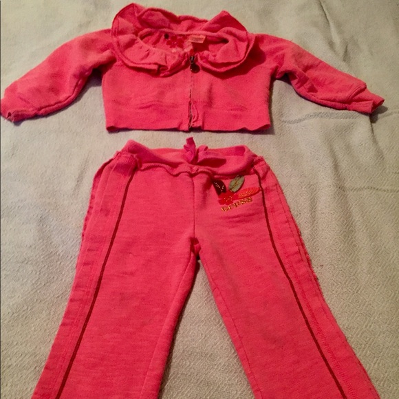 06bd5864d Guess Shirts & Tops | 24 M 2t Pink Track Suit Jogger Outfit | Poshmark